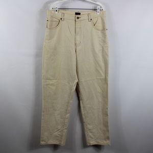 Vintage 90s TOMMY HILFIGER Mens 34x32 Cream Jeans